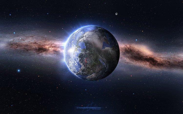 земля, космос, звезды, планета, millions of years, earth, space, stars, planet