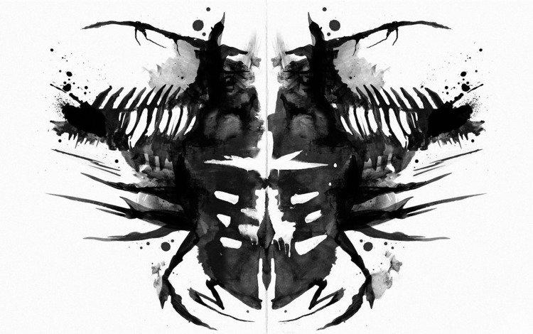 рисунок, чернила, dead space2, хорор, figure, ink, horor