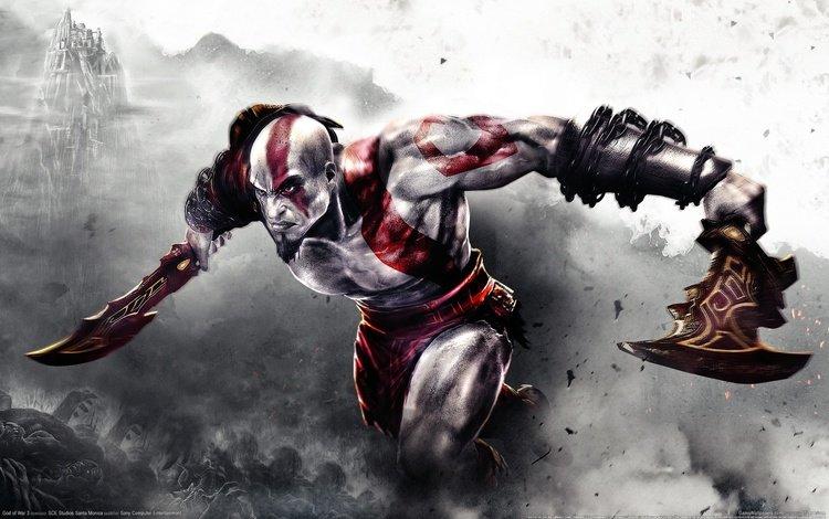 сони, god of war 3, ps3, клинки, бог войны, кратос, sony, swords, god of war, kratos