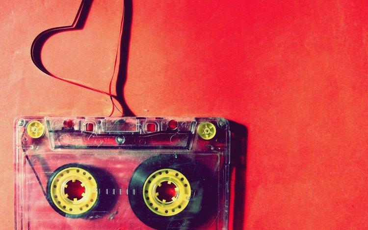 красный, сердце, кассеты, red, heart, magazine