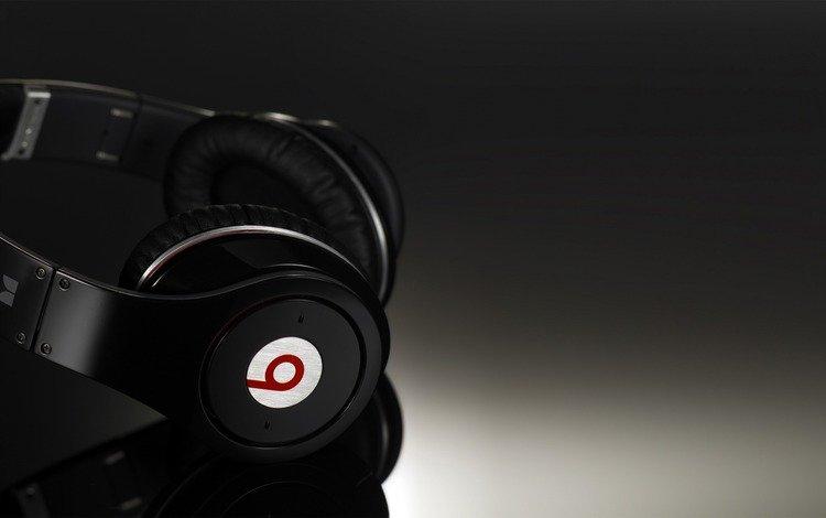 музыка, наушники, темный фон, music, headphones, the dark background