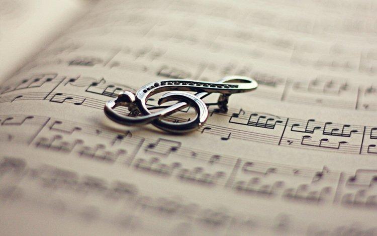 ноты, ключ, книга, скрипичный, notes, key, book, violin