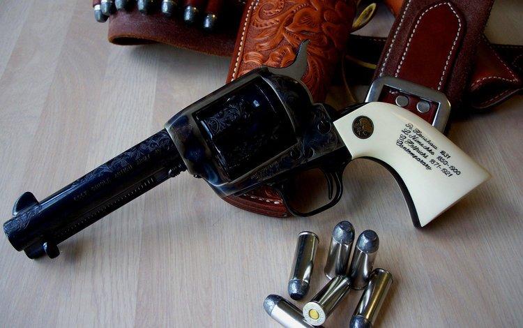 оружие, надпись, пули, револьвер, кобура, weapons, the inscription, bullets, revolver, holster