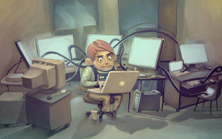 компьютер, ноутбук, программист, computer, laptop, programmer