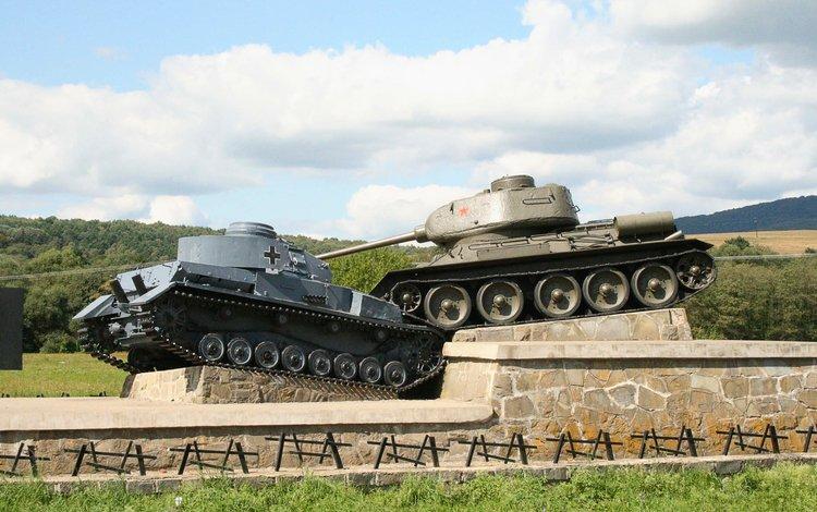 танк, памятник, т-34, tank, monument, t-34