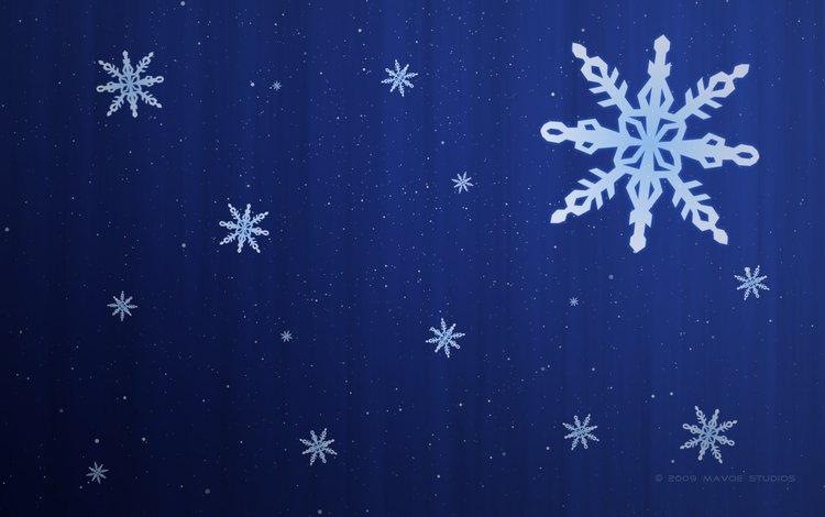 снежинки, узор, snowflakes, pattern