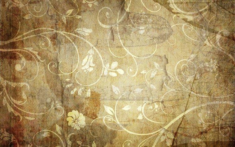 flowers, wallpaper, pattern