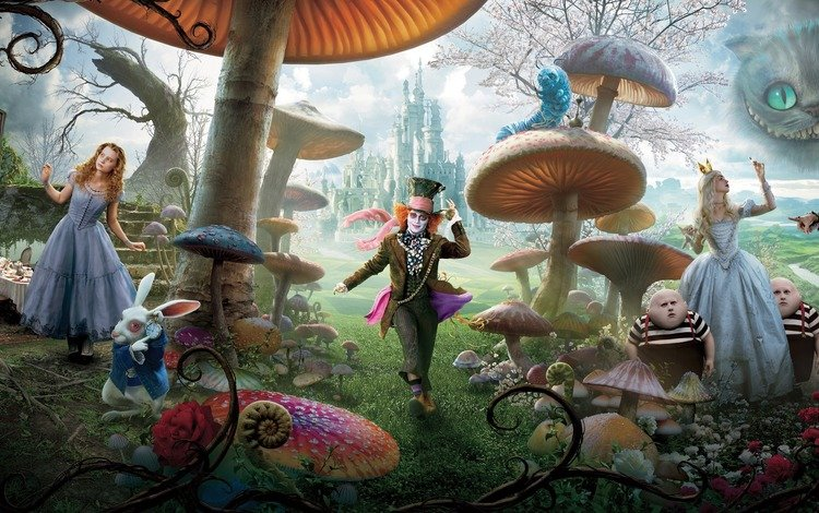 alice in wonderland, alice, tim burton