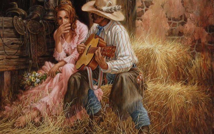 цветы, гитара, любовь, двое, свидание, flowers, guitar, love, two, date