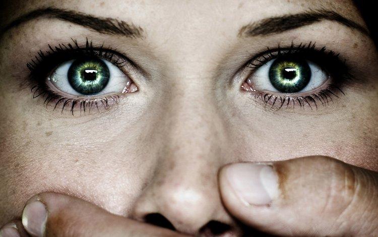 глаза, рука, лицо, зрачки, eyes, hand, face, pupils