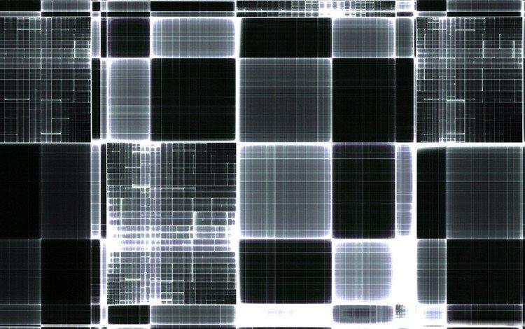 линии, черный, квадраты, line, black, squares