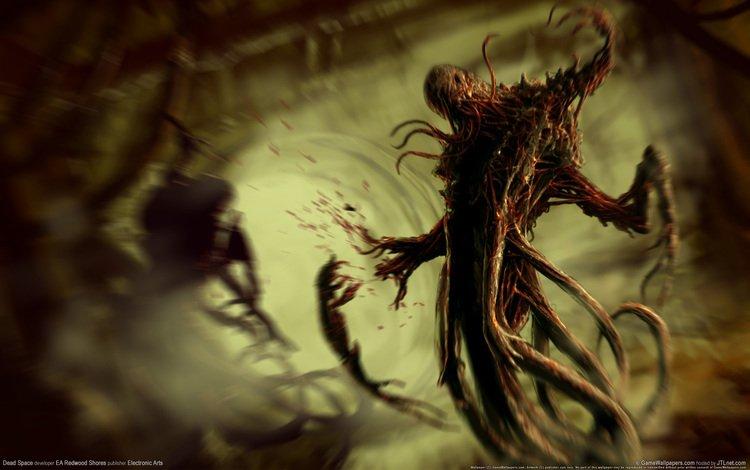 кровь, ужас, мертвый космос, тварь, слизь, blood, horror, dead space, thing, mucus