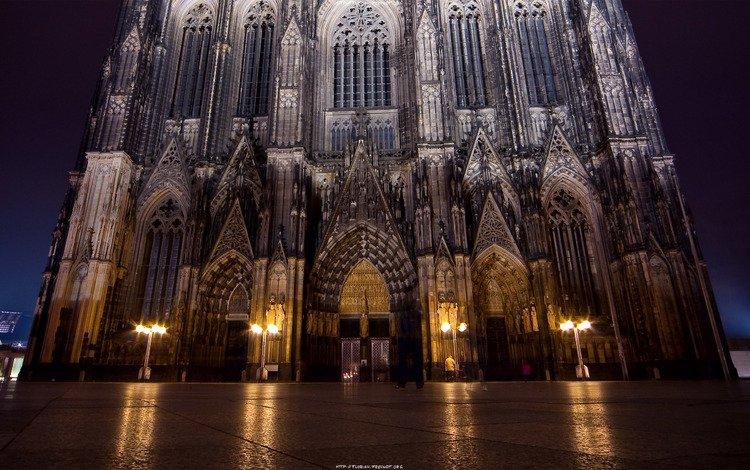 ночь, город, готика, night, the city, gothic