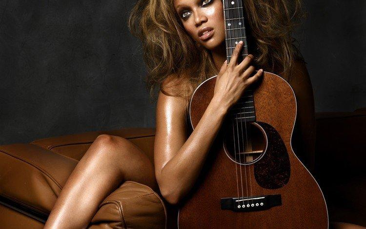 гитара, музыка, диван, guitar, music, sofa