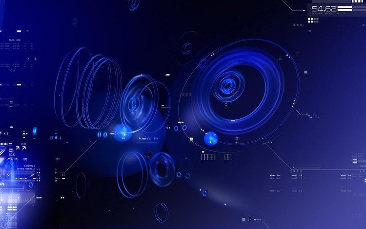 синий, круги, данные, blue, circles, data