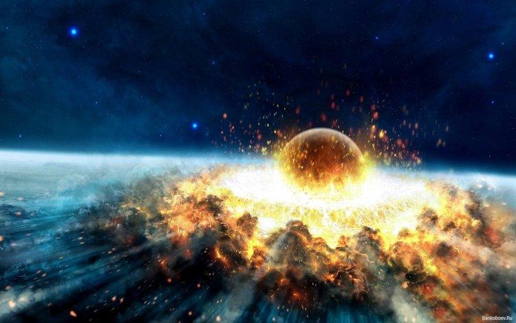 космос, взрыв, катострофа, space, the explosion, disaster
