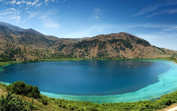 озеро, достопримечательность, курна, крита, lake, attraction, cournot, crete