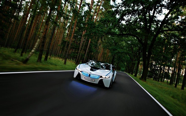 лес, зрение, концепт, бмв, forest, vision, the concept, bmw