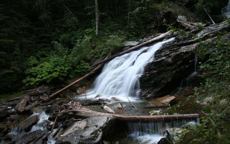 камни, водопад, течение, stones, waterfall, for