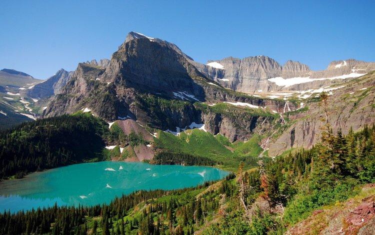 ГОлубое горное озеро
