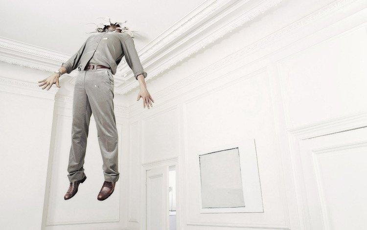 rendering, room, man, the ceiling