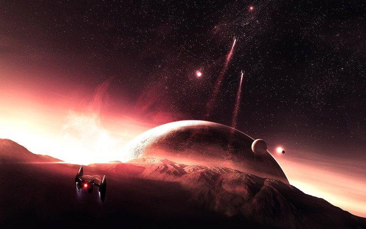 горы, планеты, космический, патруль, mountains, planet, space, patrol
