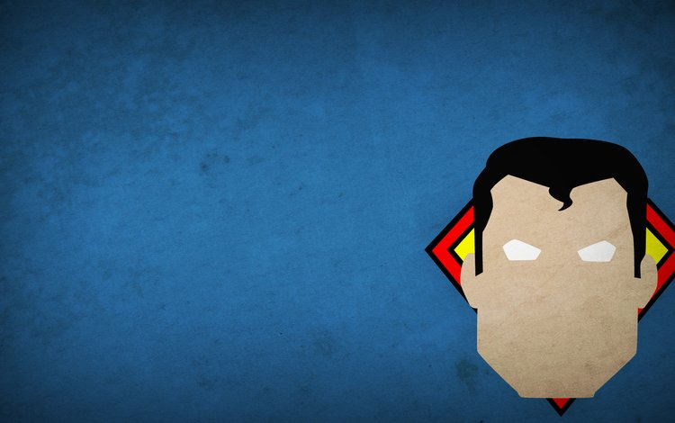 рисунок, картина, герой, минимализм, супермен, богатырь, минимаизм, 1920х1080, figure, picture, hero, minimalism, superman, 1920x1080