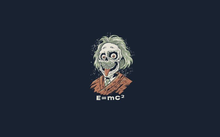 zombies, e=mc2, einstein, ghoul