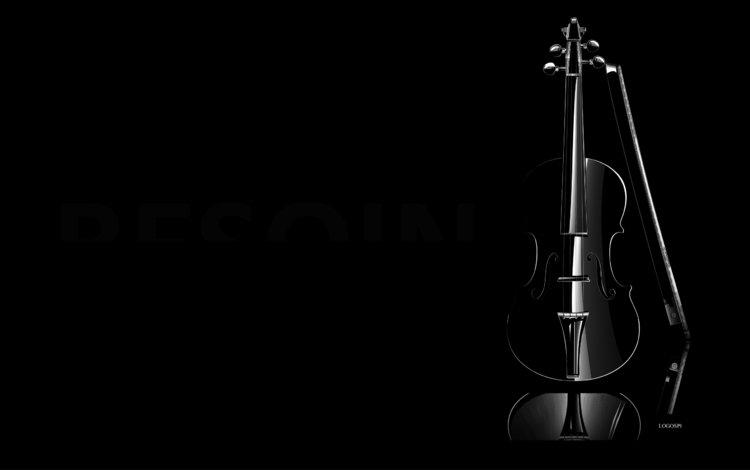 фон, скрипка, черный, минимализм, темнота, background, violin, black, minimalism, darkness