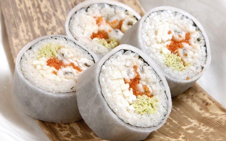 макро, еда, рыба, икра, рис, суши, роллы, rice, fish eggs, macro, food, fish, caviar, figure, sushi, rolls