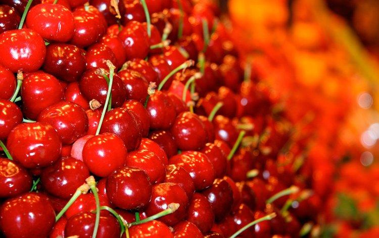 ягода, красная, черешня, berry, red, cherry