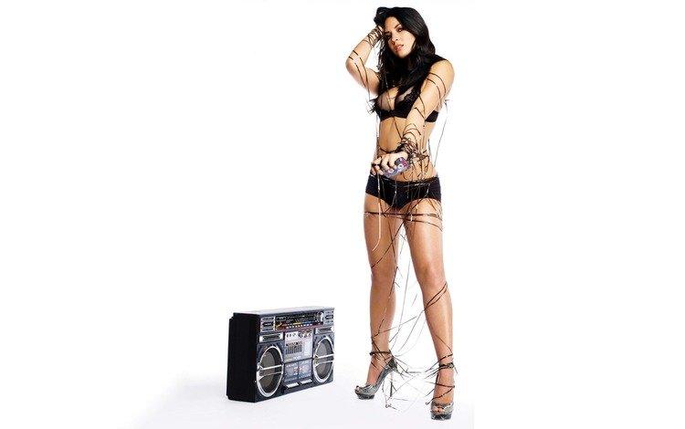 девушка, взгляд, грудь, ножки, girl, look, chest, legs