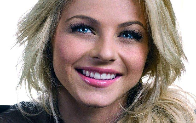 девушка, джулианна хаф, блондинка, портрет, модель, волосы, губы, лицо, помада, girl, julianne hough, blonde, portrait, model, hair, lips, face, lipstick