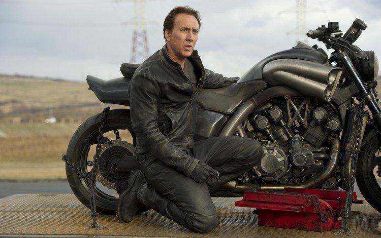 актёр, фильм, мотоцикл, призрачный гонщик, николас кейдж, actor, the film, motorcycle, ghost rider, nicolas cage