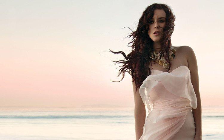 девушка, ветер, море, ветерок, платье, gевочка, румер уиллис, взгляд, модель, волосы, лицо, актриса, girl, the wind, sea, breeze, dress, rumer willis, look, model, hair, face, actress
