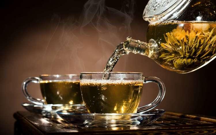 чай, чайник, чашки, tea, kettle, cup