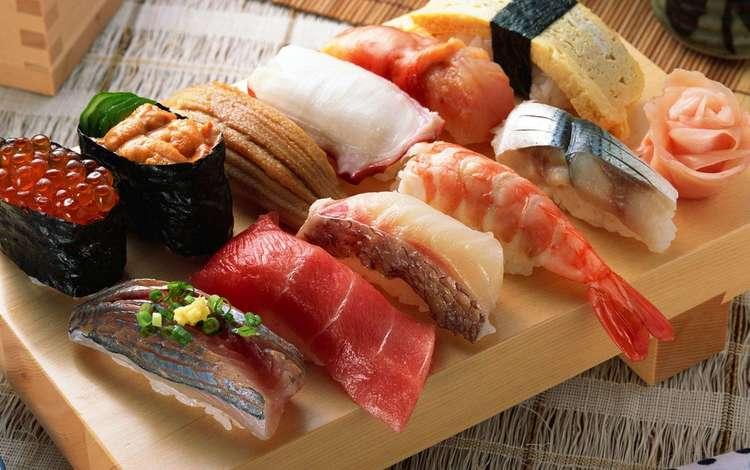 sushi, rolls, japanese cuisine