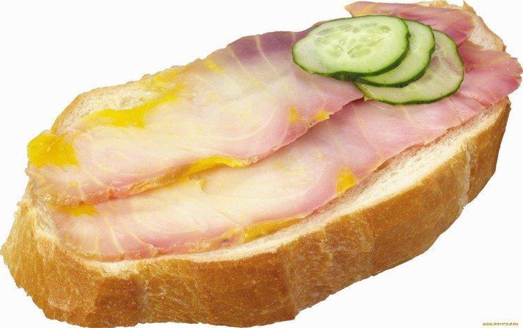 бутерброд, хлеб, мясо, огурчики, sandwich, bread, meat, pickles