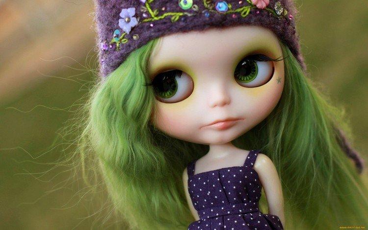 игрушка, кукла, волосы, шапочка, toy, doll, hair, cap