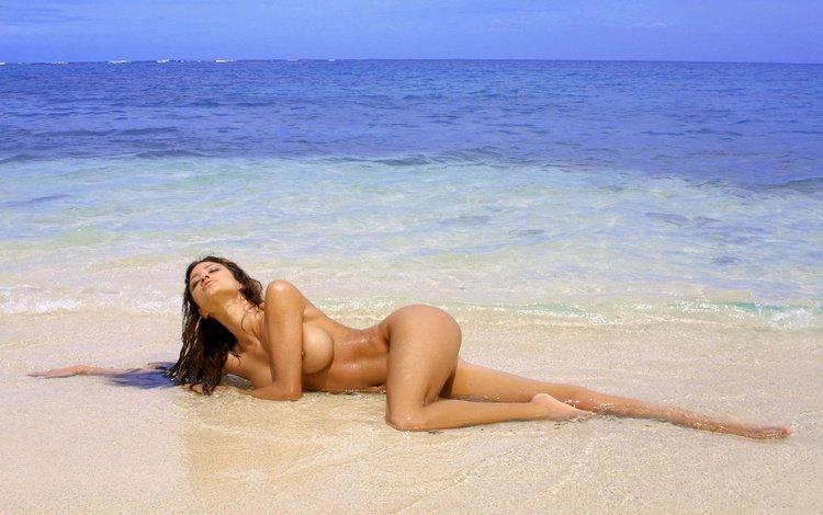 пляж море девушки секс