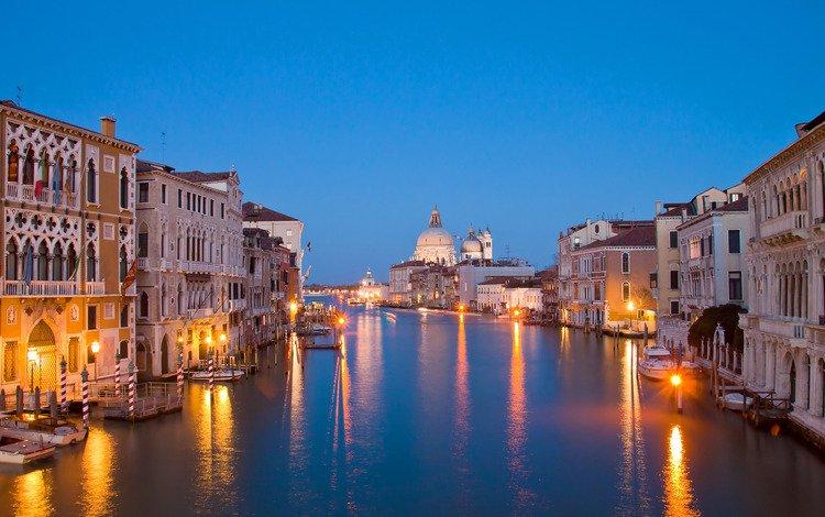 огни, венеция, канал, италия, lights, venice, channel, italy
