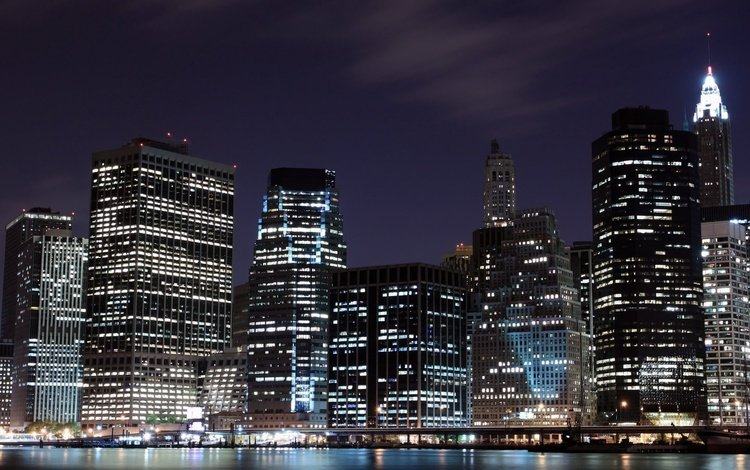 огни, ночной город, lights, night city