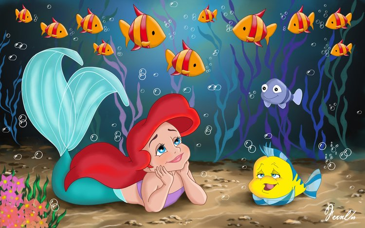 дисней, русалочка, ариэль, disney, the little mermaid, ariel