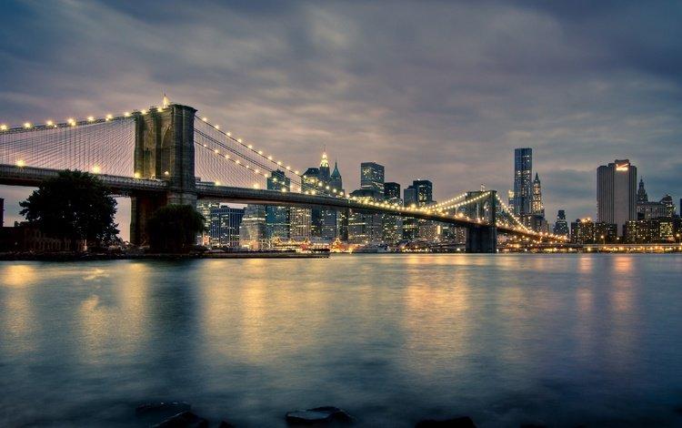 мост, нью-йорк, манхеттен, бруклинский мост, new-york, бруклин бридж, bridge, new york, manhattan, brooklyn bridge