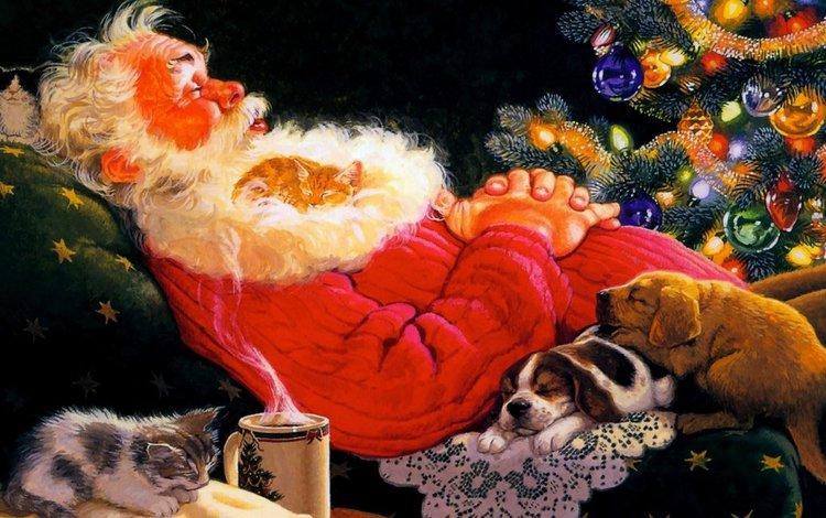 новый год, зима, дед мороз, new year, winter, santa claus