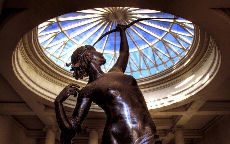 девушка, статуя, купол, girl, statue, the dome