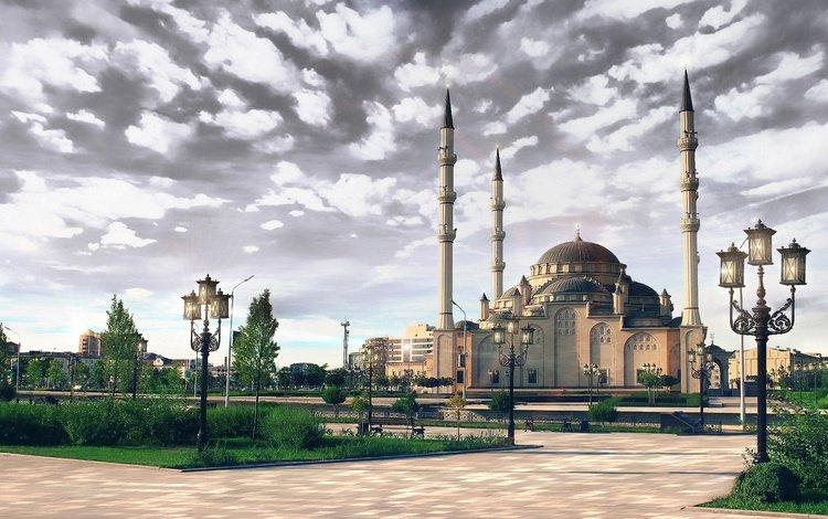 мечеть, грозный, чечня, mosque, terrible, chechnya