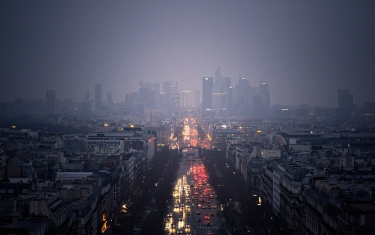город, дождь, машины, пасмурно, the city, rain, machine, overcast