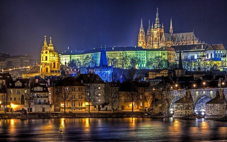 ночь, огни, ночной город, карлов мост, прпгп, night, lights, night city, charles bridge, pcgp