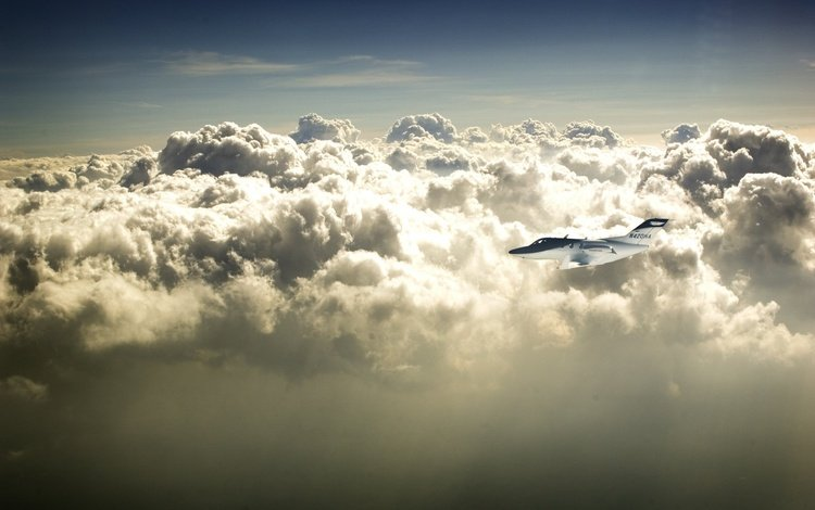 самолет, nebo, обьлака, the plane, oblaka